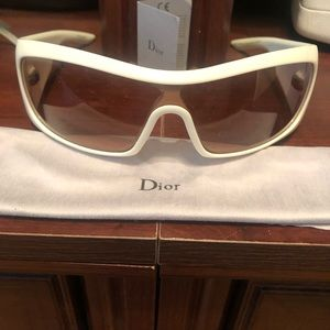 Christian Dior Cannage 2 pink and white sunglasses